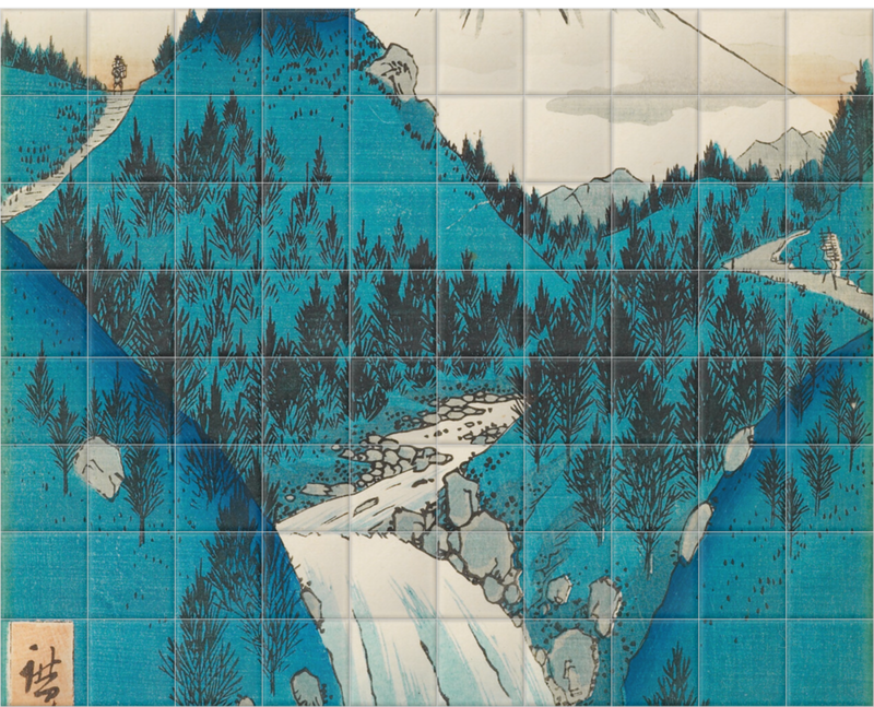 'In the Mountains of Izu Province' Ceramic Tile Mural