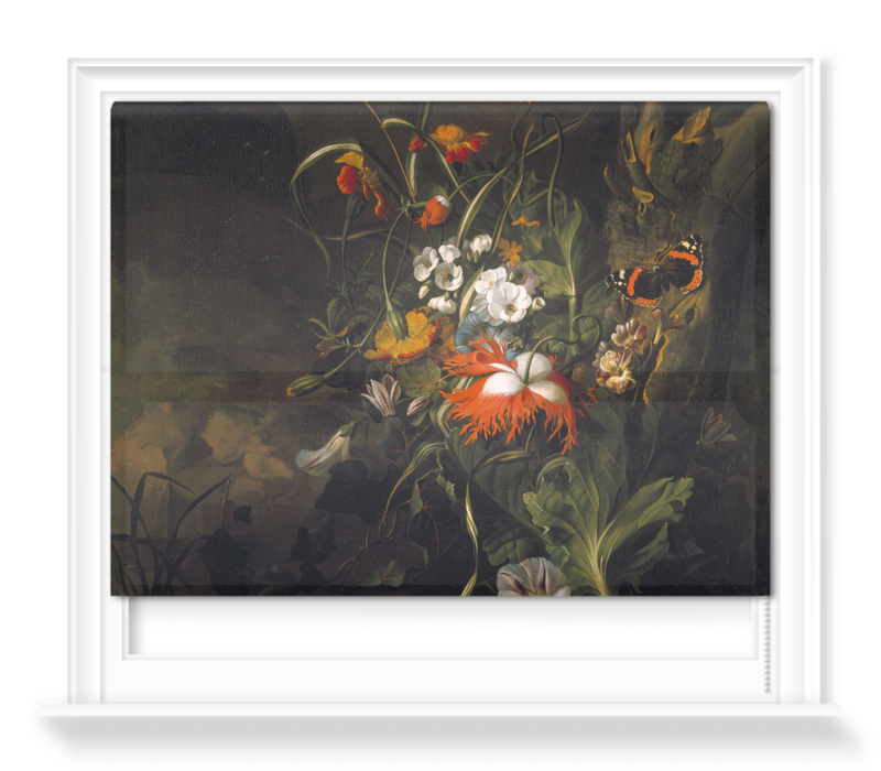 'A 'Forest Floor' Still Life of Flowers' Roller Blind