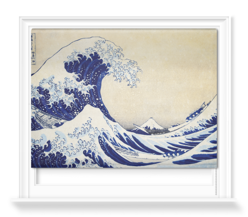 'The Great Wave' Roller blinds