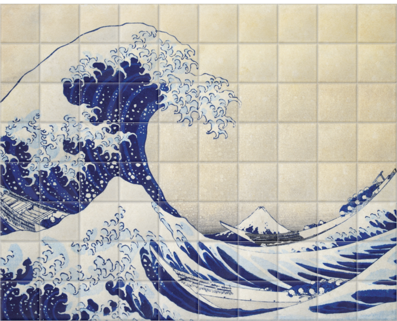 'The Great Wave' Ceramic tile murals