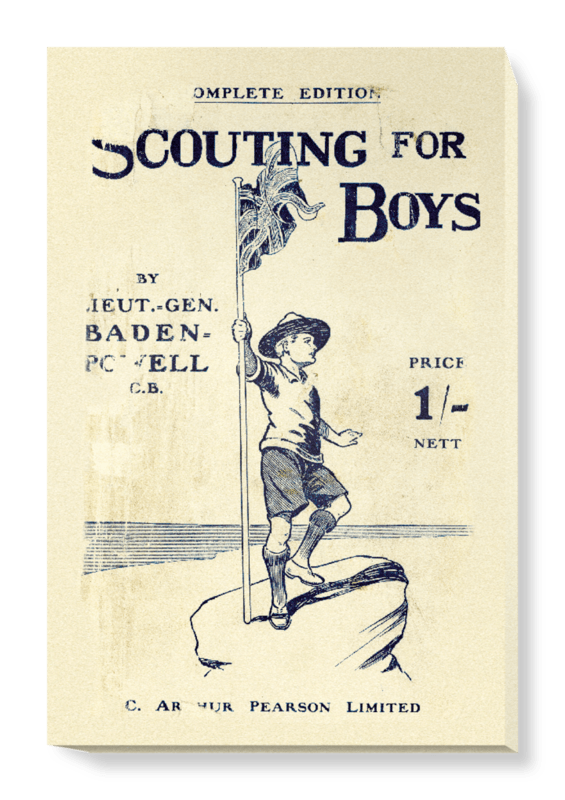 'Scouting for Boys, part 2' Canvas Wall Art