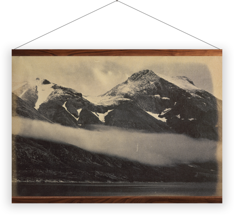 'Kunak Mountain with a fog bank' Wall Hanging