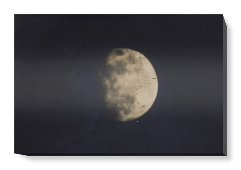 '19th century photograph of the Moon' Canvas Wall Art