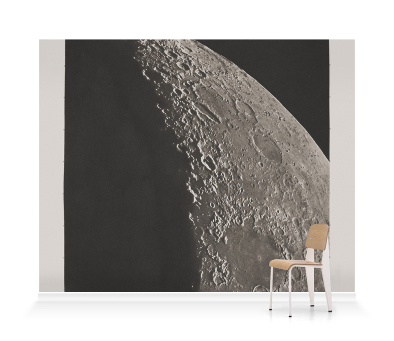 'The Moon with Schickhard and Gassendi craters' Wallpaper Mural