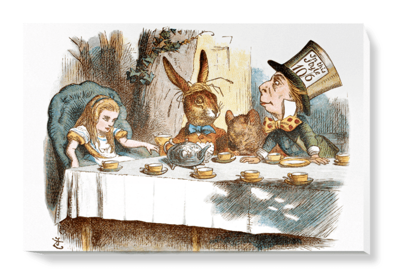 'The Mad Hatter's Tea Party II' Canvas Wall Art