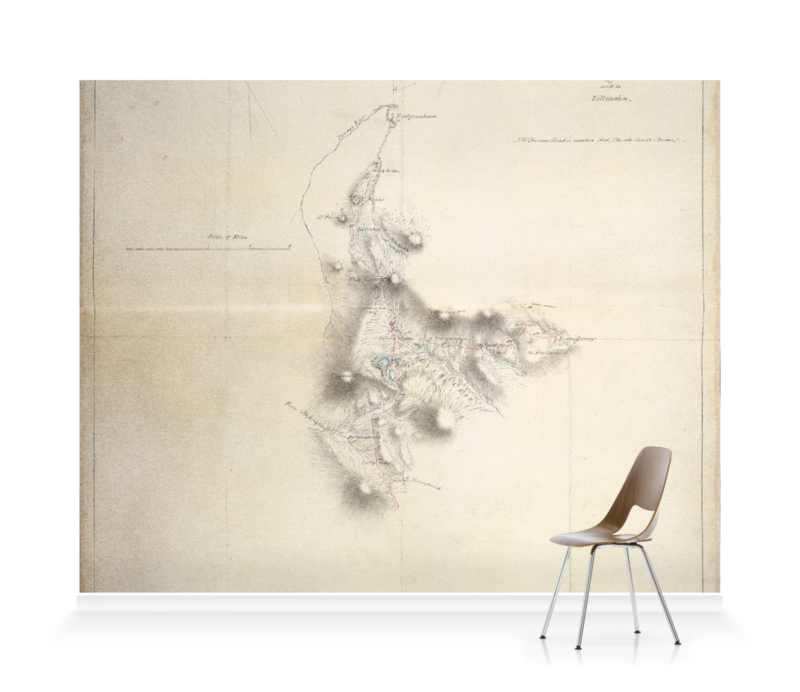 'Map of the New Military Road' Wallpaper Mural