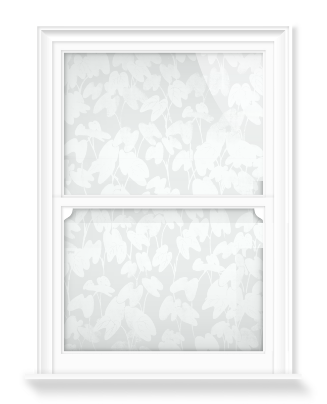 'Floral design II' Decorative window films