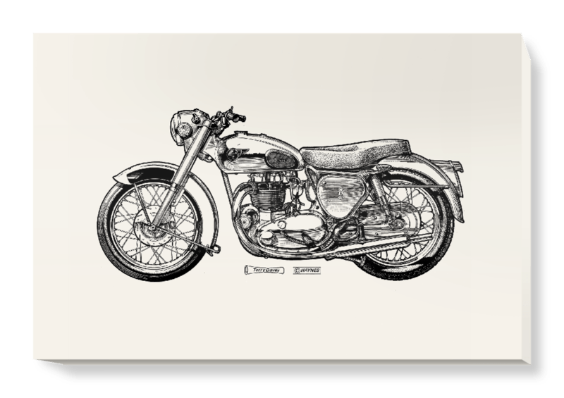 'White Motorcycle' Canvas Wall Art