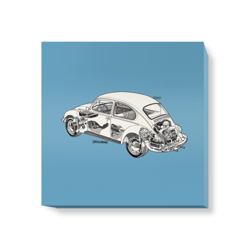 'Soft Blue Beetle' Canvas Wall Art