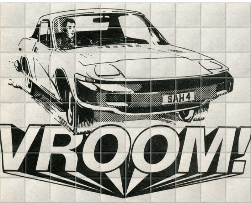 'Vroom!' Ceramic Tile Mural