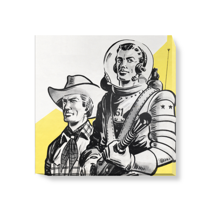 'Astronauts and Cowboys' Canvas Wall Art