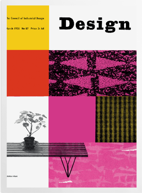 'Pink Design 1956' Art Prints