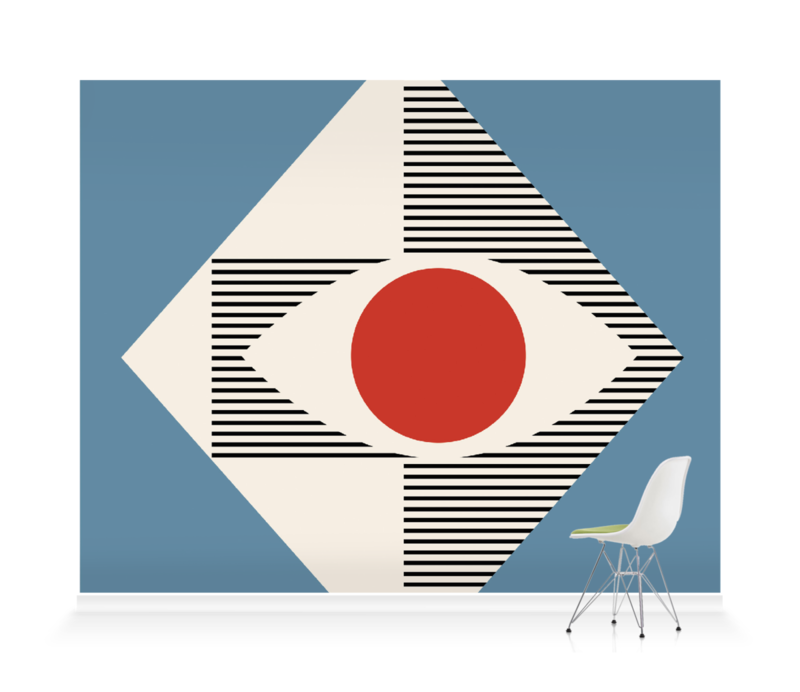 'Eye Design 1955' Wallpaper Mural