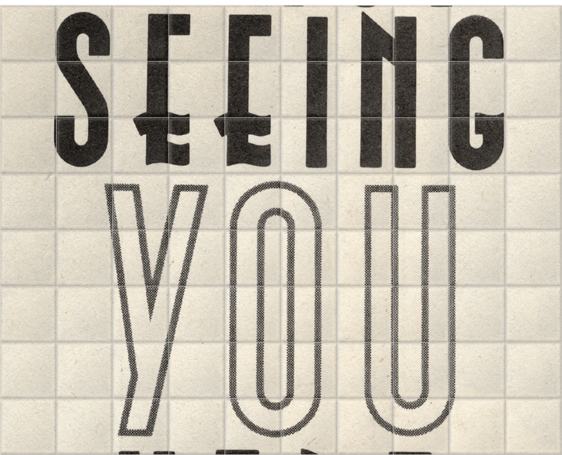 'Fancy Seeing You Here' Ceramic Tile Mural
