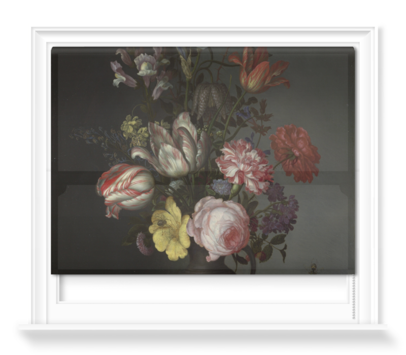 'Flowers in a Vase with Shells and Insects' Roller Blind