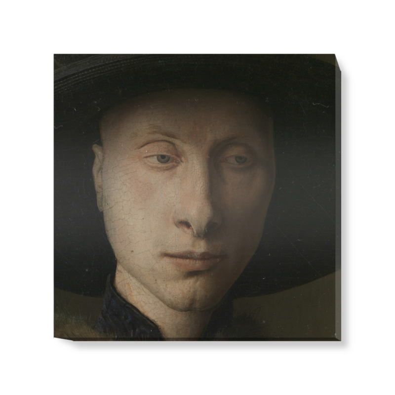 'Detail from The Arnolfini Portrait' Canvas Wall Art