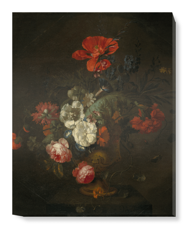 'Flowers in a Stone Vase' Canvas Wall Art