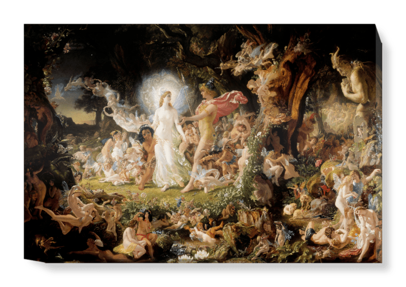 'The Quarrel of Oberon and Titania' Canvas Wall Art