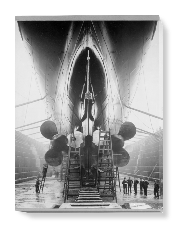 'The Stern of the Lusitania' Canvas Wall Art