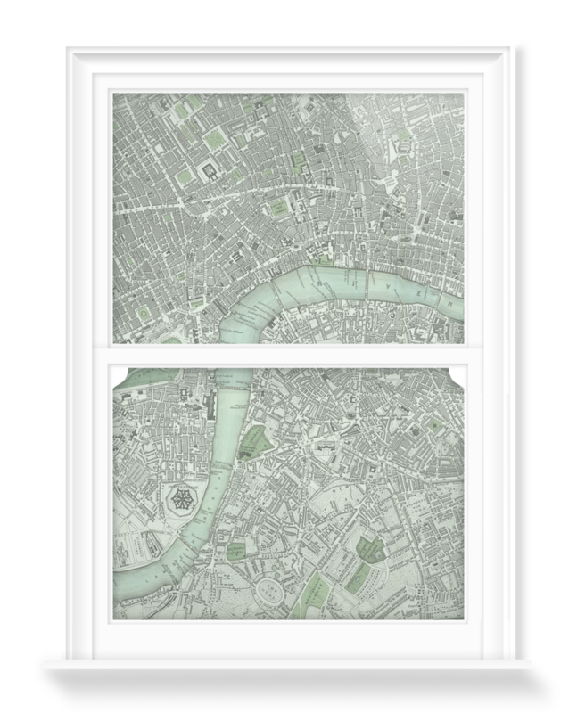 'Chart of London City' Decorative Window Film