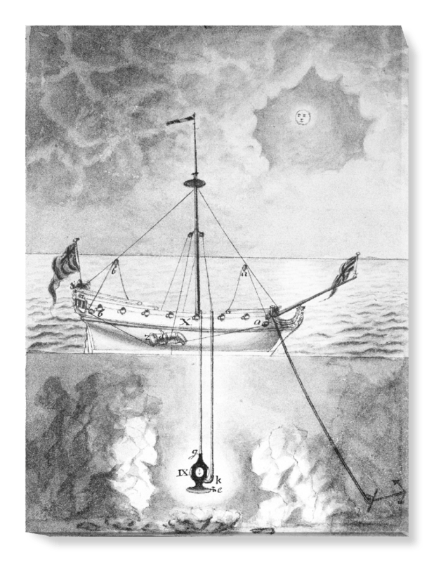 '18th century diving apparatus, II' Canvas Wall Art