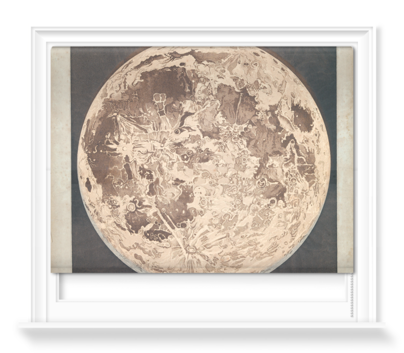 'Telescopic appearance of the moon, backlit' Roller Blind