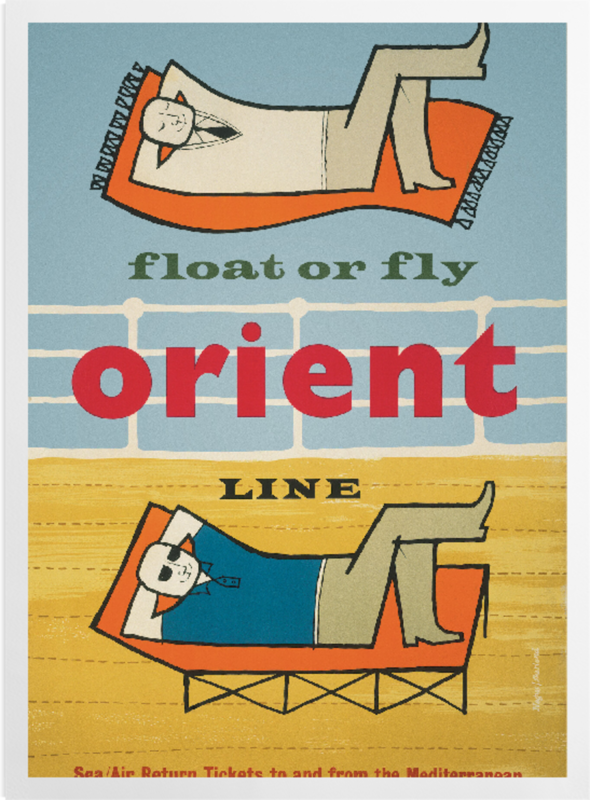'Float or fly with Orient Line' Art Prints