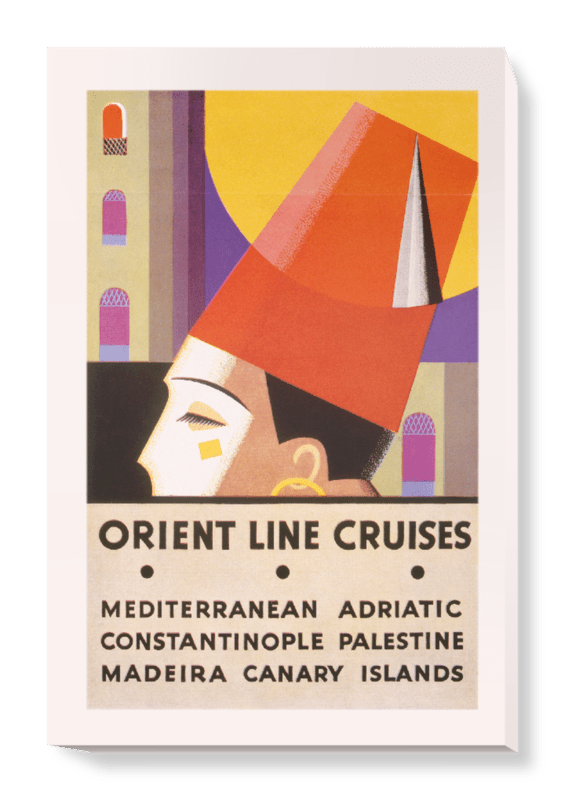 'Orient Line Cruise Brochure' Canvas Wall Art