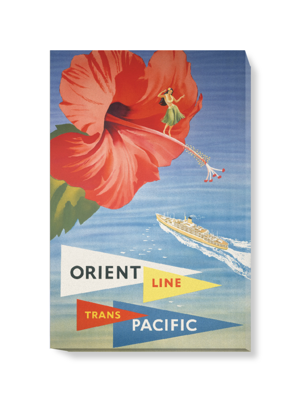 'Orient Line Trans Pacific' Canvas Wall Art