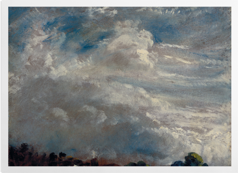 'Cloud Study: Horizon of Trees' Art Prints