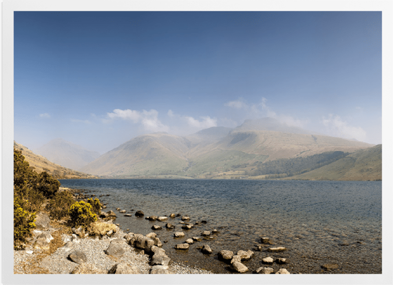 'Wastwater and Scafell Pike' Art Prints