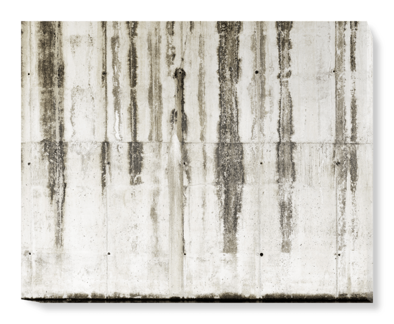 'Striped Concrete' Canvas Wall Art