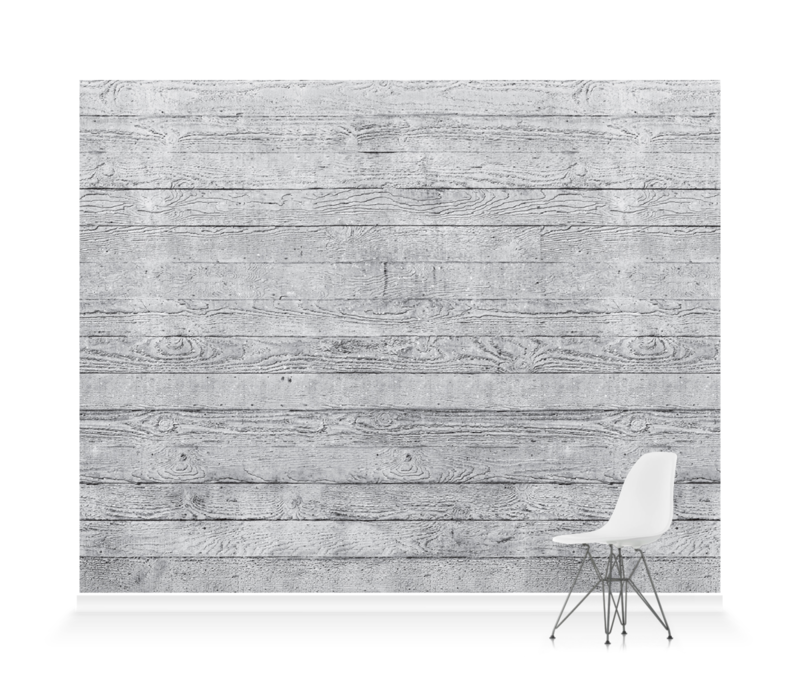 'Concrete Wood Dove Grey' Wallpaper murals