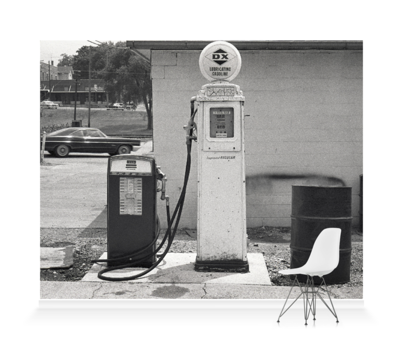 'Gas Station, Illinois' Wallpaper Mural