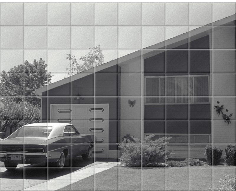 'Car And House, Long Island' Ceramic Tile Mural