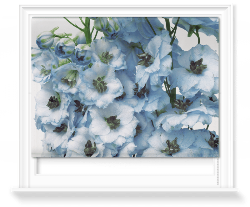 'Gathered Larkspur' Roller Blind