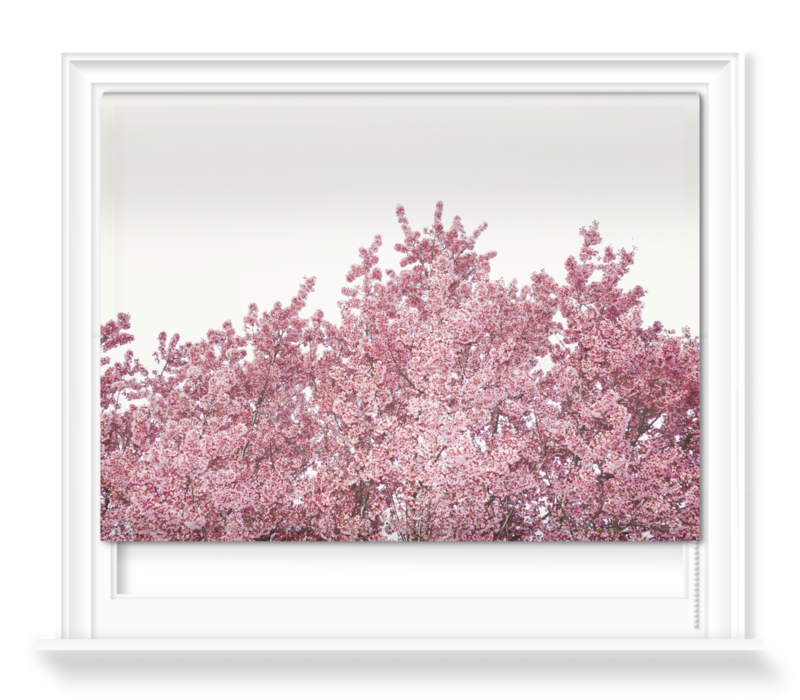 'Cherry Reaching Tops' Roller Blind