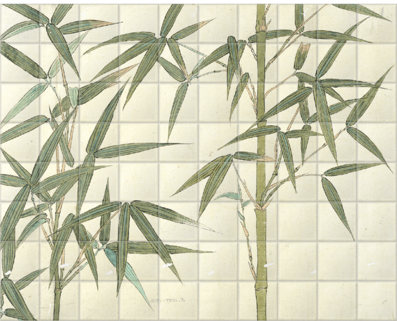'Drawing of Bamboo' Ceramic Tile Mural