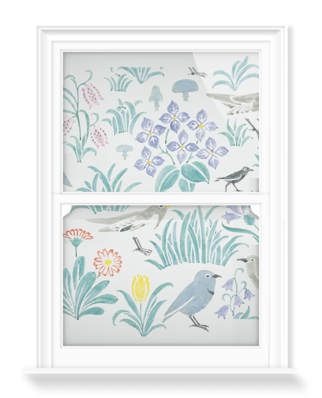 'Design for My Garden' Decorative Window Film