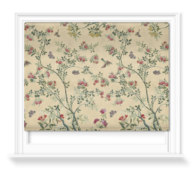 'Camellia Chinoiserie Parchment' Roller blinds