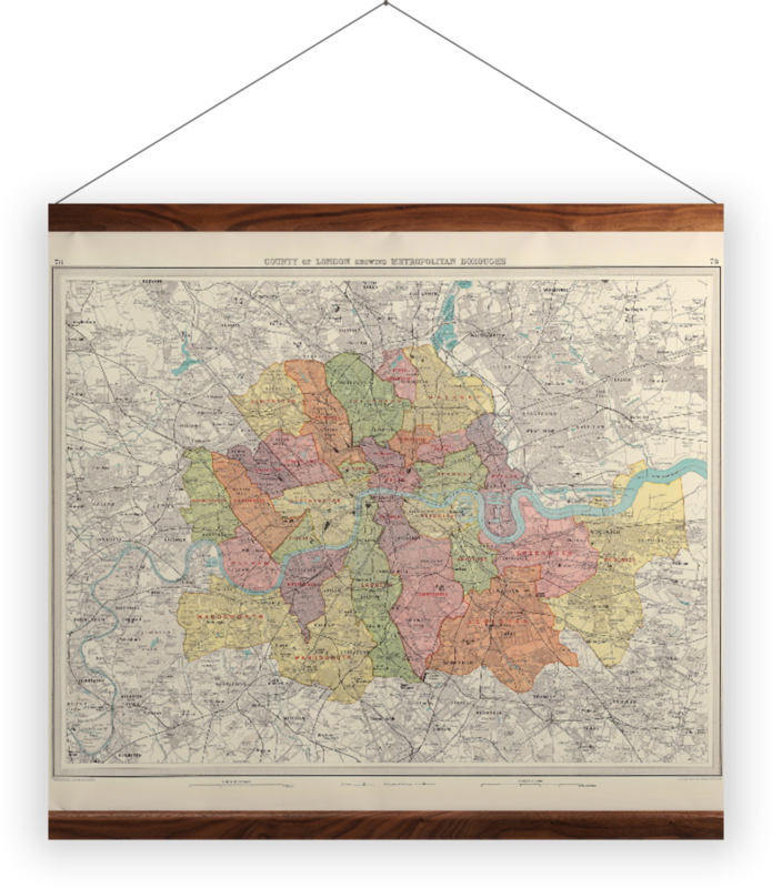 'County of London' Wall Hanging